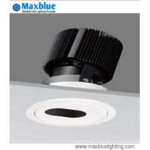 High CRI High Lumen Dimmable COB Plafonnier encastré Downlight LED